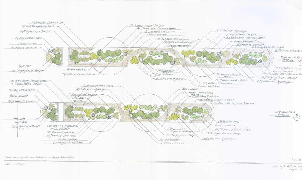Turtle Creek Landscaping Plan